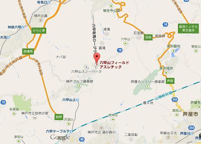 六甲山フィールドアスレチックの地図