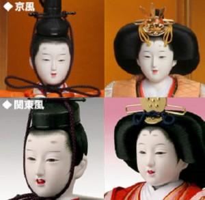 京都と関東の雛人形は顔が違います。
