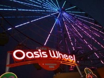 川島PAの観覧車はライトアップされるのです。