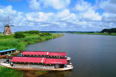 佐倉チューリップフェスタの屋形船で印旛沼を満喫
