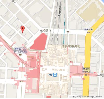 東横イン博多口駅前地図