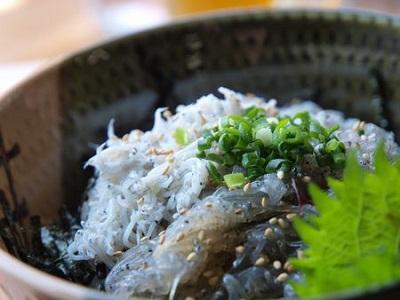 富士見亭生しらすと釜揚げしらすのハーフ丼