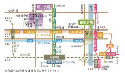 京の七夕地図