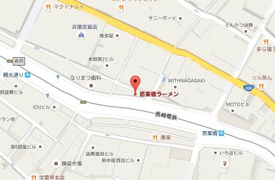 思案橋ラーメン地図