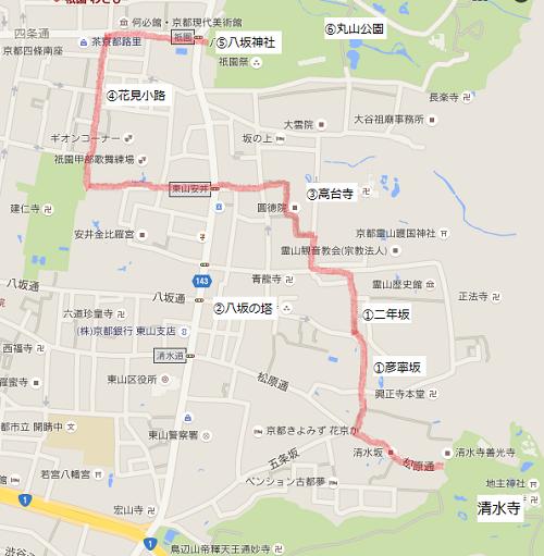清水寺周辺マップ