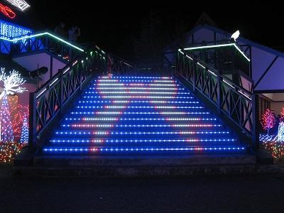 ドイツ村イルミネーション光の階段