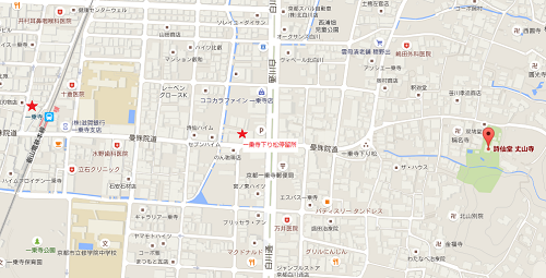 詩仙堂地図