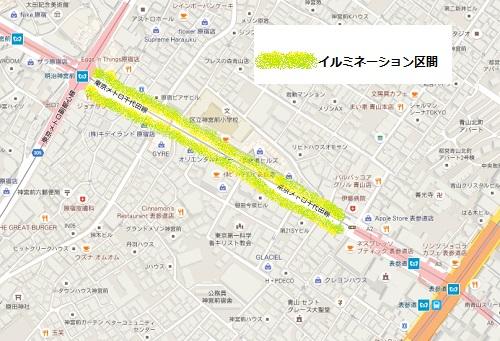 表参道イルミネーションマップ