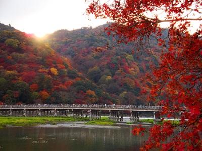 嵐山・渡月橋紅葉