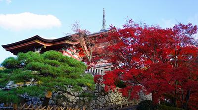 清水寺西門からの紅葉