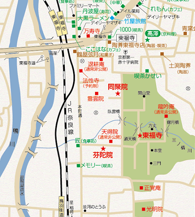 東福寺周辺地図