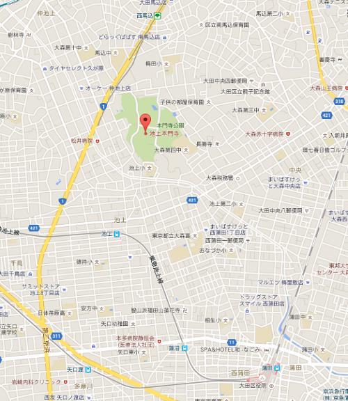 池上本門寺マップ
