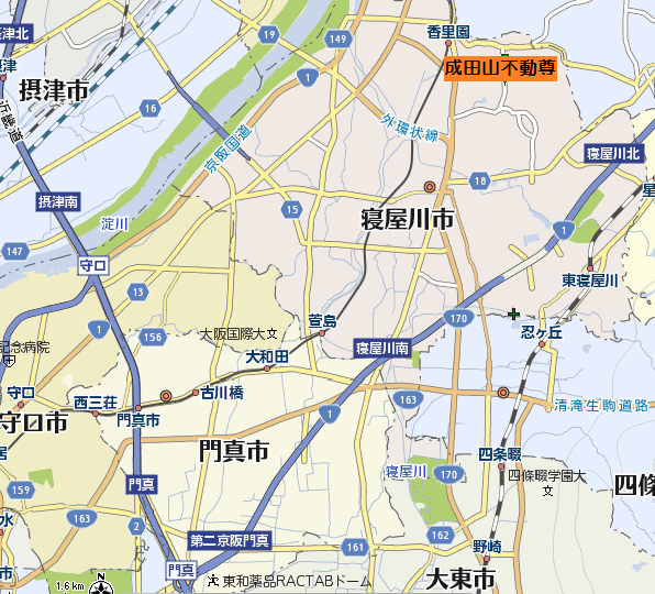 成田山不動尊周辺地図