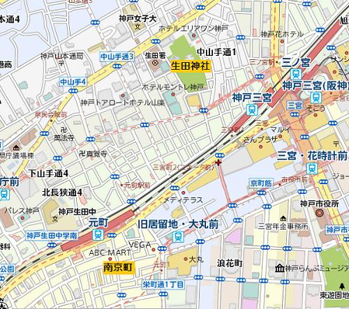 生田神社周辺地図