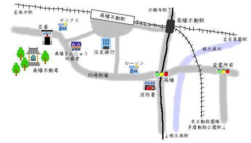 高幡不動尊マップ