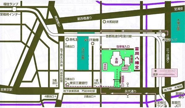 富岡八幡宮周辺マップ