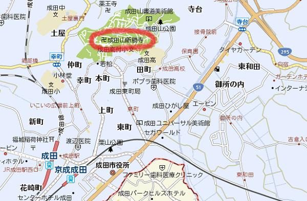 成田山新勝寺マップ
