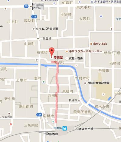 寺田屋周辺の地図
