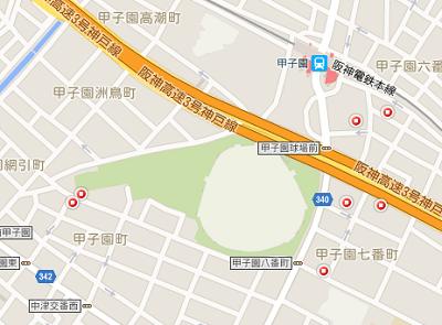 甲子園球場周辺のコインパーキング
