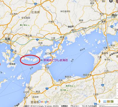 安芸灘とびしま海道地図
