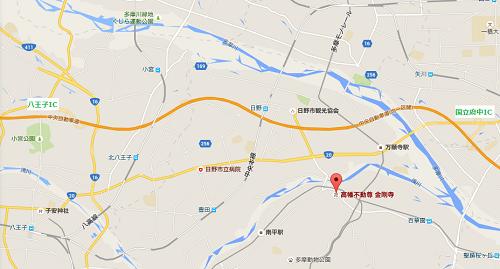 高幡不動尊金剛寺車マップ