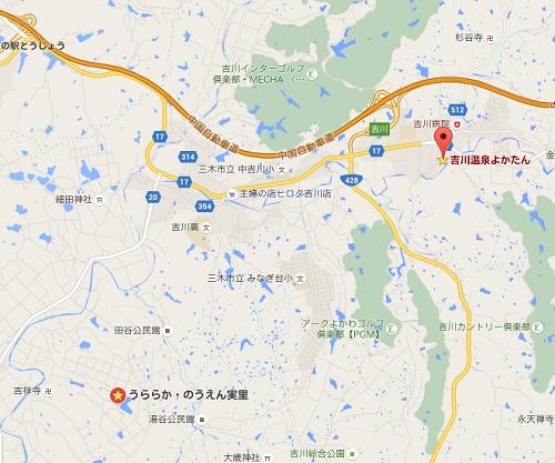 吉川温泉よかたん地図